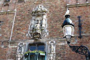 Détail sur le beffroi de Bruges