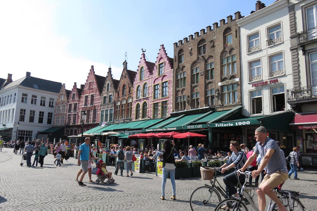 Façades de la Grand'Place de Bruges