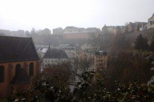Vue sur le grund, ville basse Luxembourg ville.