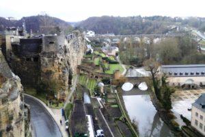 Quartier du Grund, ville basse Luxembourg ville.