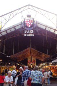 Mercat de La Boqueria marché couvert Barcelone.