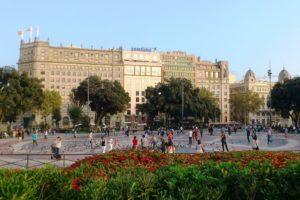 Place Catalunya Barcelone.