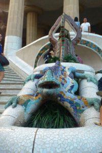 Salamandre du parc Güell à Barcelone.