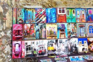 Vente de photos quartier du château Lisbonne.