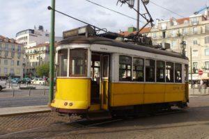 Electricos célèbres tramways jaunes Lisbonne.