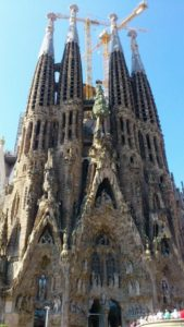 La Sagrada Familia à Barcelon.