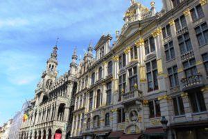 Façades des maisons de la Grand-Place Bruxelles.