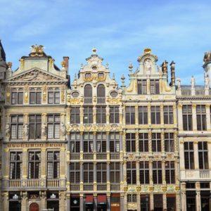 Façades des maisons de la Grand-Place de Bruxelles.