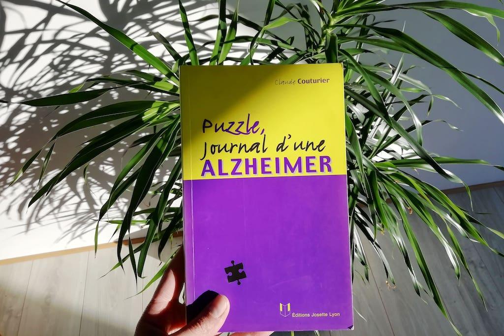 Livre Puzzle, journal d'une ALZHEIMER, de Claude Couturier.