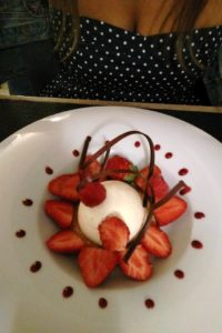Dessert du restaurant l'Ame au Vert Avelin.