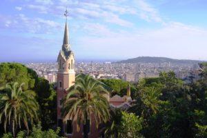 Vue sur Barcelone depuis le parc Güell