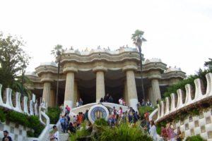 Le palais Güell au parc Güell à Barcelone.