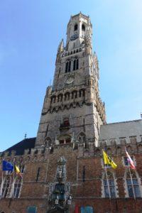 La tour du beffroi de Bruges