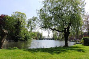 Le lac d'amour (Minnewater) à Bruges