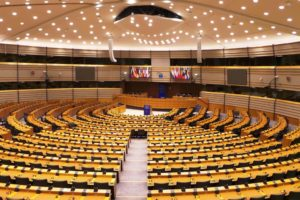 Hémicycle du Parlement Européen Bruxelles.