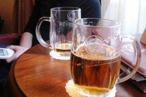 Bières Pilsner Urquell offertes par l'hôtel Général Prague.