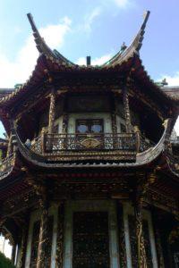 Jardin du pavillon chinois à Bruxelles.