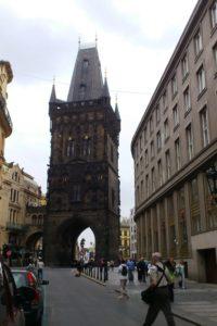 La tour poudrière Prague.