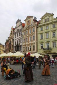 Façades maisons place de la Vieille-Ville Prague.