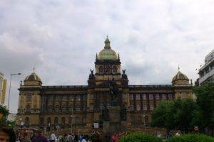Musée national place Vencelas Nové Město nouvelle ville Prague.