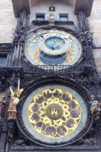 Horloge astronomique ancien hôtel de ville Prague.