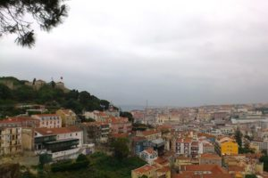 Vue depuis le miradouro de Graça Lisbonne.