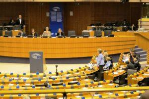 Séance plénière avec députés européens au Parlement Europe de Bruxelles.
