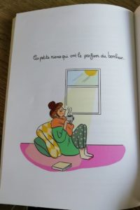 Illustration hygge de Marygribouille les petits rien ont le parfum du bonheur.