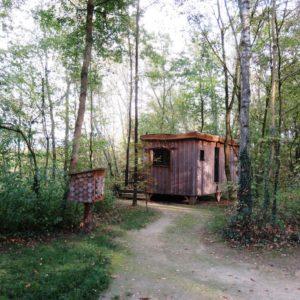 Cabane en bois du domaine des reflets bleus