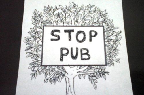 Stop pub fait-maison pour boîte aux lettres.