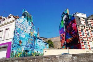 Street-art impasse Lacour par Eduardo Kobra à Boulogne-sur-Mer