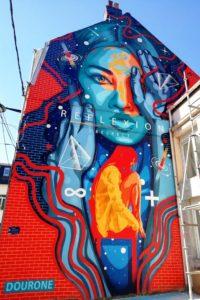 Street-art rue des Carreaux par Dourone à Boulogne-sur-Mer