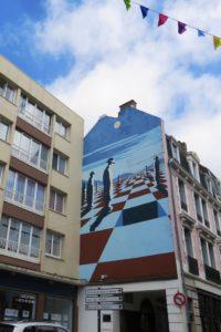 Street-art rue de la Lampe par Jacques Savignol à Boulogne-sur-Mer