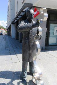 Statue en bronze de Victor Planchon à Boulogne-sur-Mer