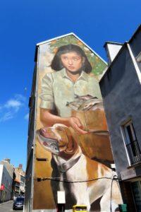 Street-art rue des Pipôts par Evoca1 à Boulogne-sur-Mer