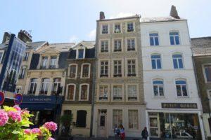 Façades maisons ville fortifiée Boulogne-sur-Mer