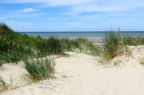 Vue sur la mer depuis le circuit de la dune Marchand à Zuydcoote