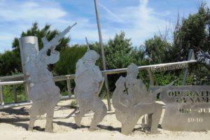 Sculpture opération Dynamo à Zuydcoote