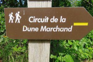 Panneau circuit de la dune marchand