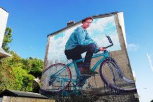 Street-art boulevard St Beuve par Finttan Magee à Boulogne-sur-Mer
