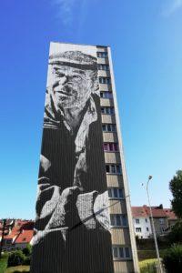 Street-art rue Maryse Bastié par ECB à Boulogne-sur-Mer