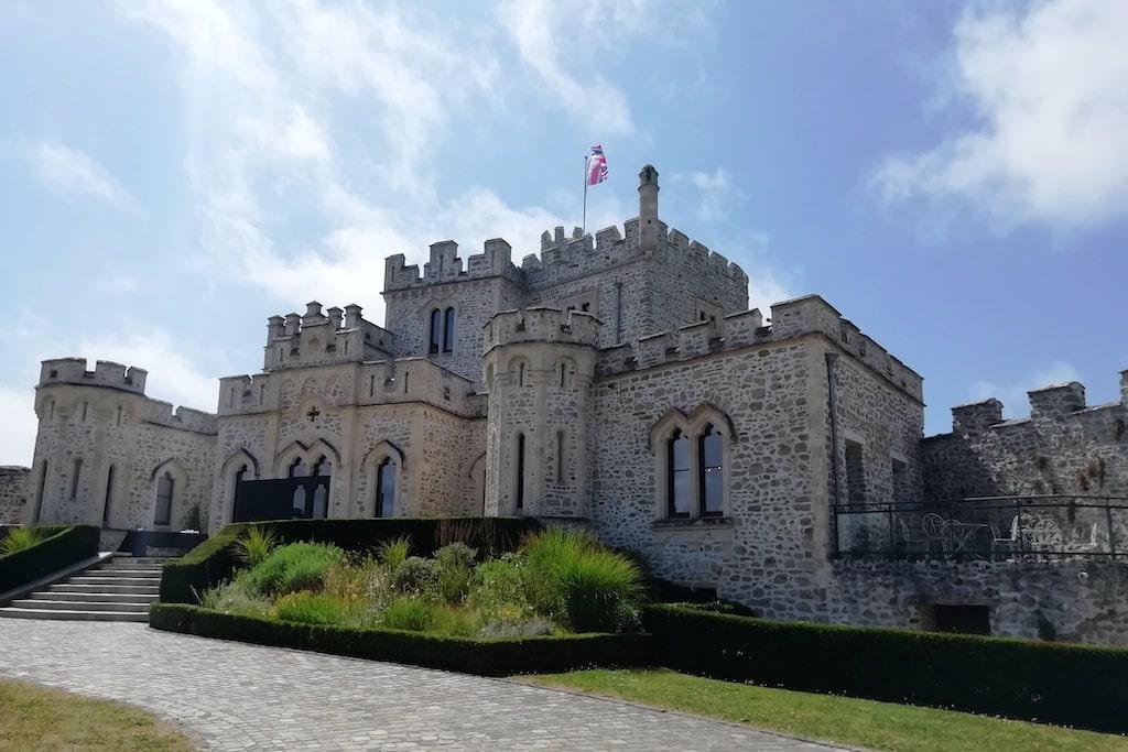 Vue d'ensemble sur le château d'Hardelot