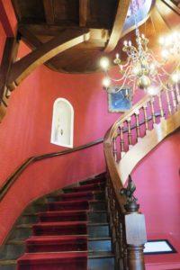 Escalier du château d'Hardelot