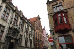 Façades de bâtiments à Bruges
