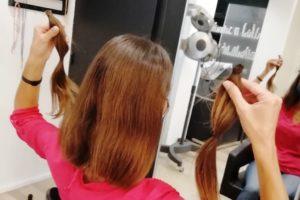 Chez le coiffeur, après la coupe