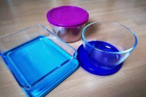 Boîtes en verre avec couvercles